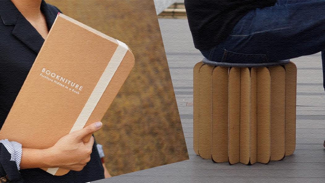 本を開けばおしゃれな家具に!?椅子や机として使えるBookniture