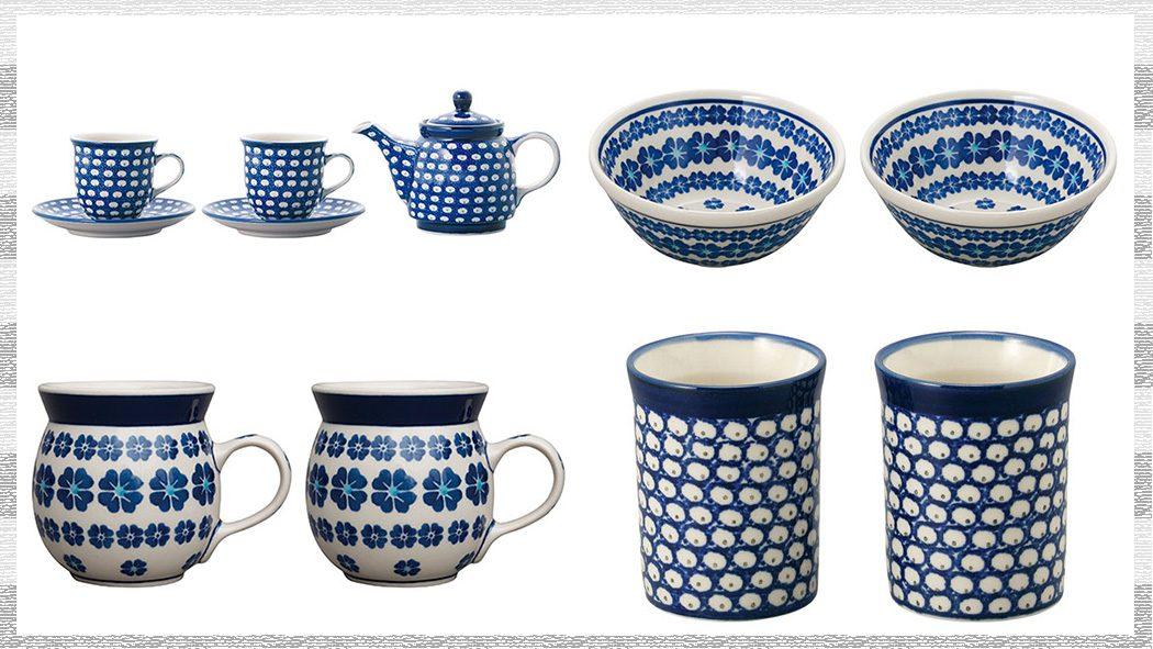 ブライダルギフトに!北欧ポーランド陶器セラミカのペアセット食器
