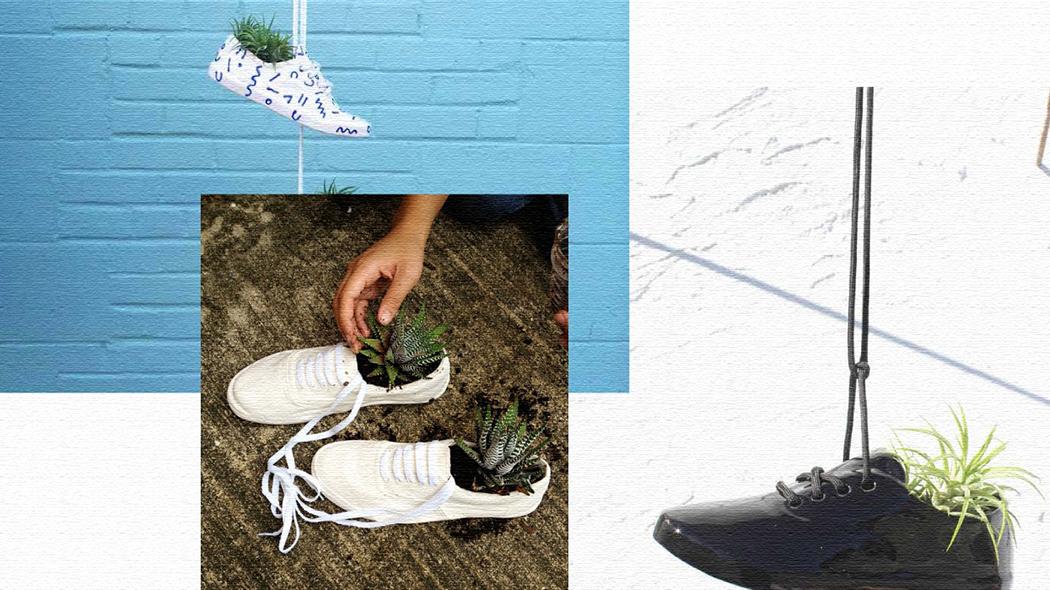 おしゃれで遊び心満点の靴型プランター『シューズプランター』