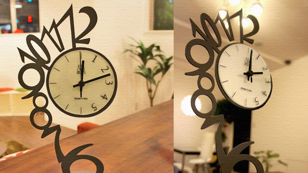 イタリア発のオブジェにもなるアーティスティックな置き時計!