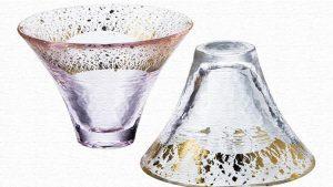 「富士山冷酒杯揃え」贈り物に最適な富士山型のペアグラス