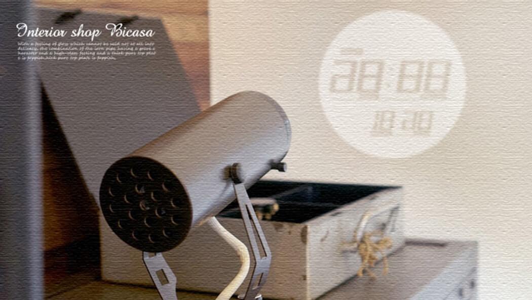 部屋の壁や天井が時計に!?プロジェクタークロック「PROJECTION CLOCK Ruston」