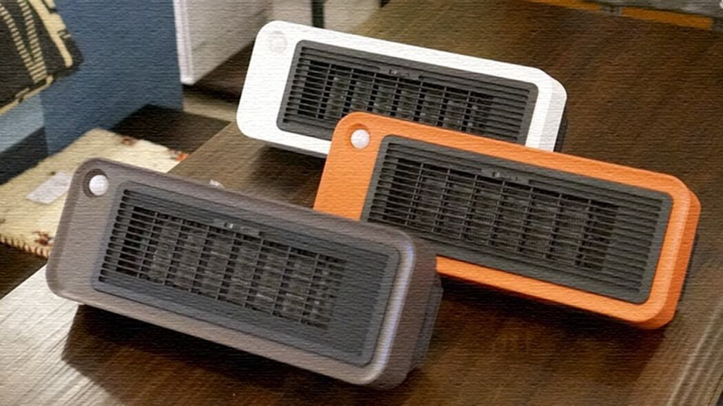 人感センサー付セラミックヒーター!縦横使えておしゃれなヒーター
