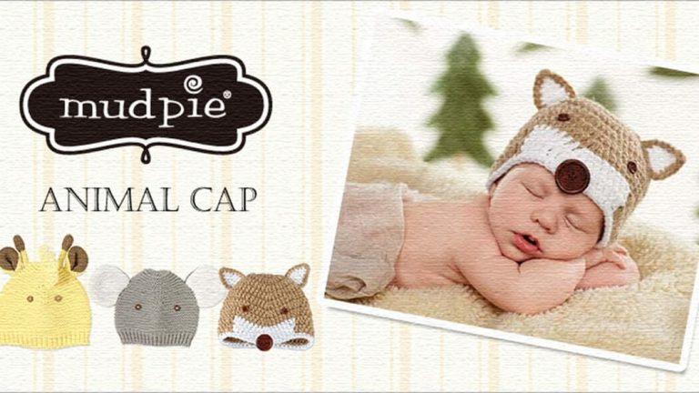 出産祝いに♪アニマルモチーフのベビー用ニット帽【Mud Pie(マッドパイ)】