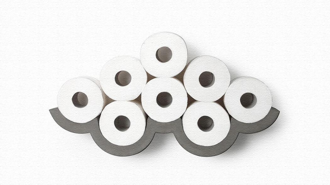 雲型のコンクリートトイレットペーパーホルダー(Cloud Concrete Toilet Paper Holder)