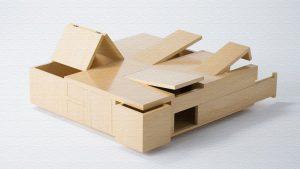 Kai Table(カイテーブル)|引出しや扉が隠されたユニークなテーブル