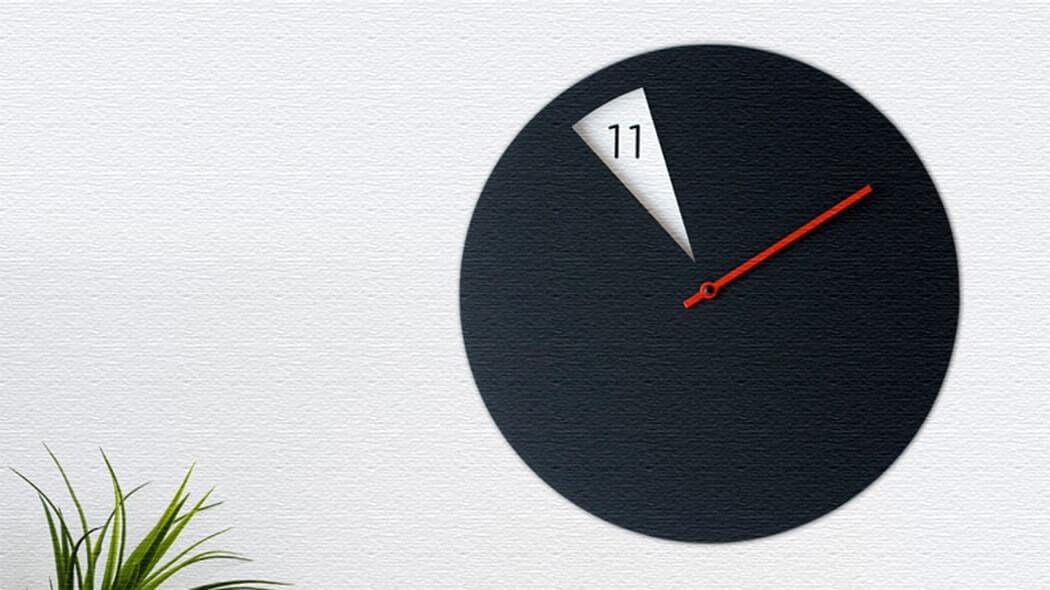 スリットから時間を見せる時計!ポップでキュートなFreakish CLOCK(フリーキッシュクロック)