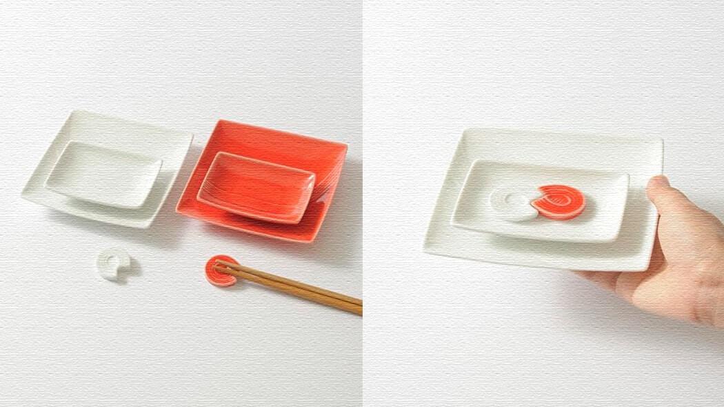 結婚祝いなどのプレゼントに!食器セット「mizu-hiki 紅白器揃え」