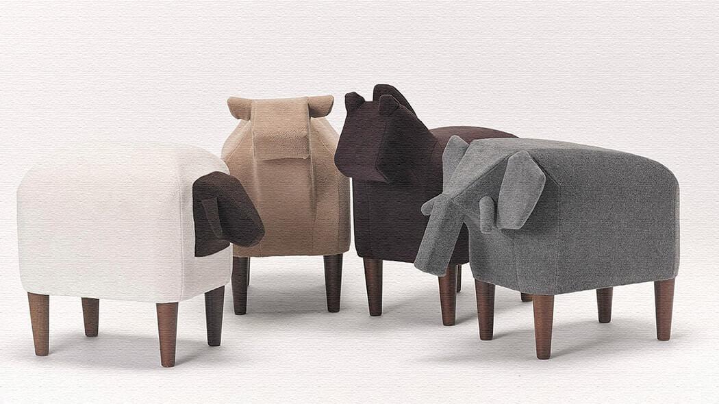 かわいい!動物の形の椅子アニマルスツール「Frien'Zoo Stool」