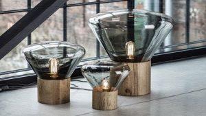 Muffins(マフィンランプ)|ガラスと木の融合が美しいランプ