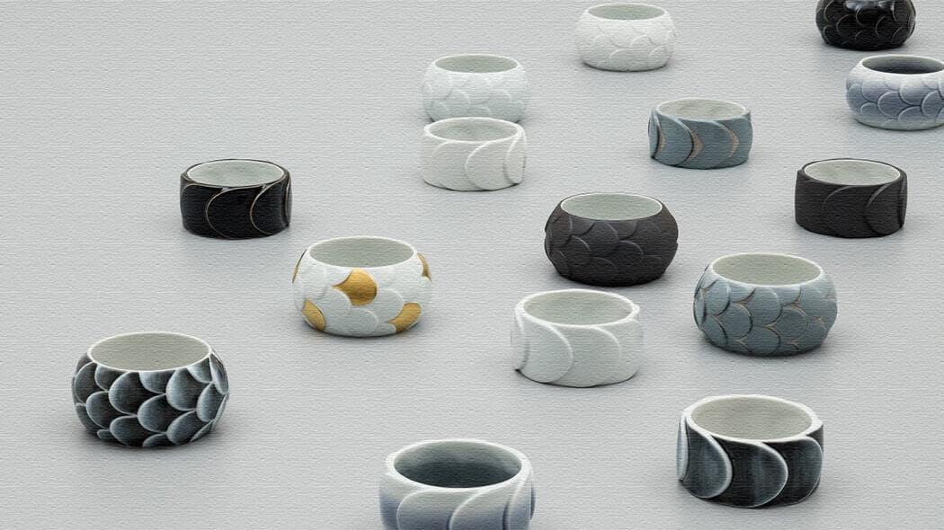 有田焼で作られた指輪Ring DRAKE RING(リングドレイクリング)