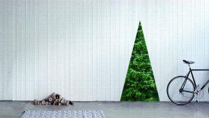 壁に貼る大型ステッカークリスマスツリー「Unrolling Xmas Tree」