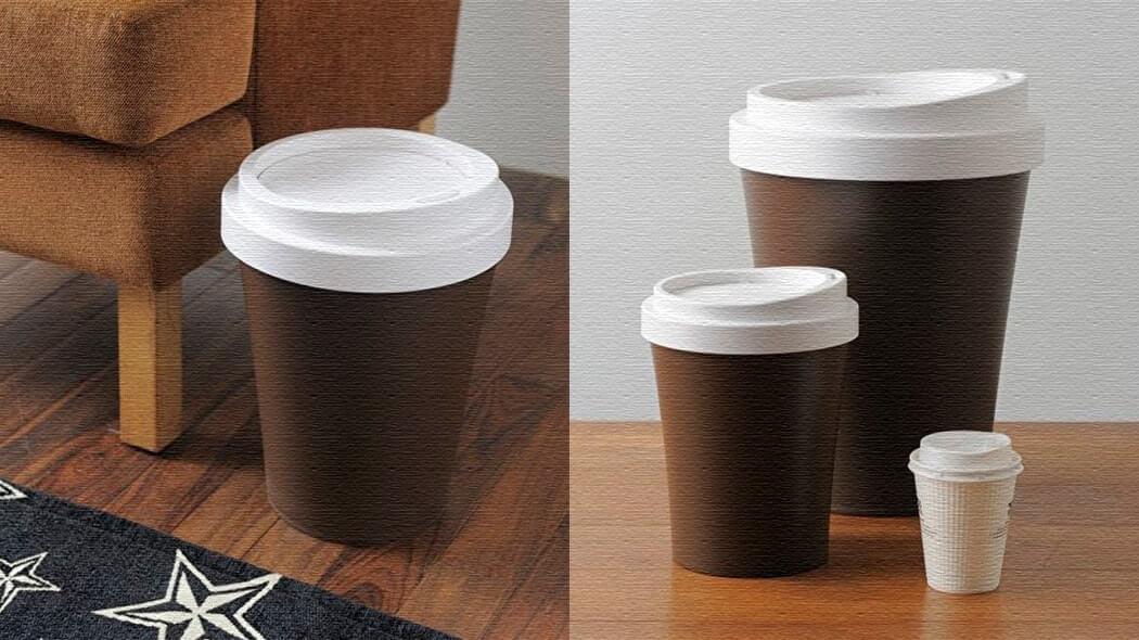 大きなテイクアウトカップがゴミ箱に?Coffee Bin(コーヒー ビン)