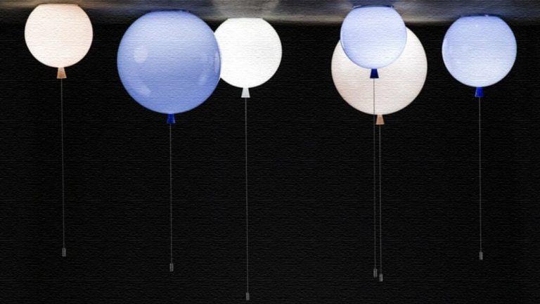 メモリーシーリングランプ|風船が天井に留まっているようなランプ