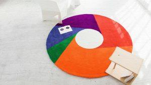 カラーホイールラグ|カラフルな円型ラグマットで部屋を明るく演出!