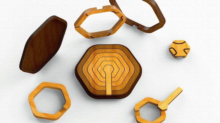 Echo(エコー)|幾何学デザインの木のパズル