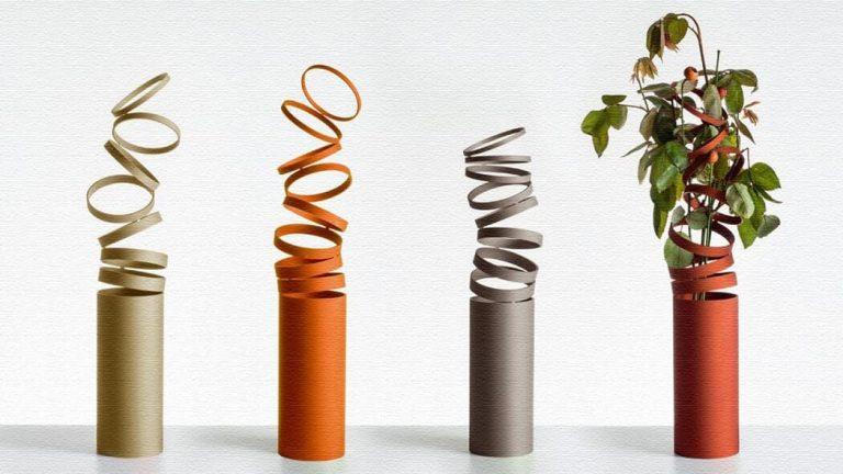 リングのつながりが美しいアーティスティックな花瓶|Vase Decompose