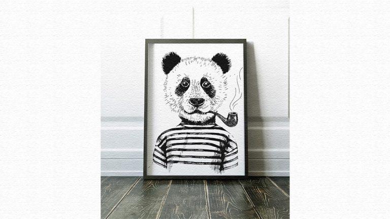 動物グラフィックのユニークなポスター|Animal Poster(アニマルポスター)