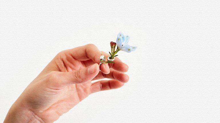 イケバナリング|天然の草花を生けることができる指輪