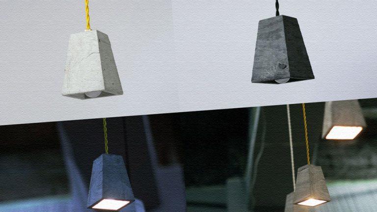 モルタルで作られたペンダントランプ|Lump Lamp(ランプランプ)