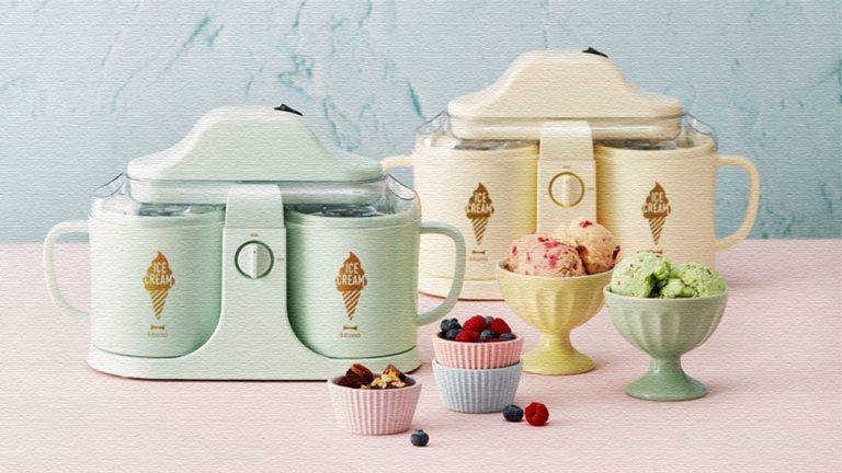 デュアルアイスクリームメーカー|手作りひんやりアイスが2種類一度に!