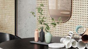 3つの花瓶とトレイがセットになったフラワーベース|Balance(バランス)