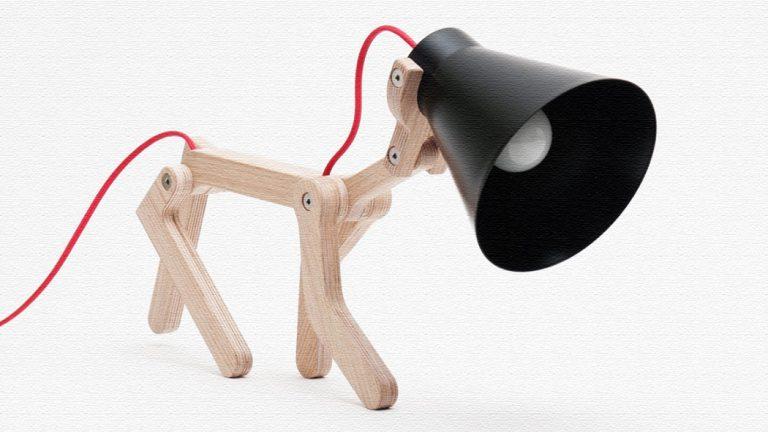 犬がモチーフのテーブルランプ!可愛いのにおしゃれな照明♪|The WAaF lamp(ザワァフランプ)