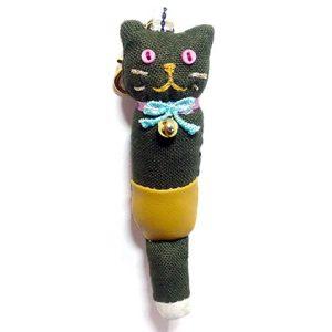 ネコノコ|オリーブグリーン色のおしゃれな猫チャーム