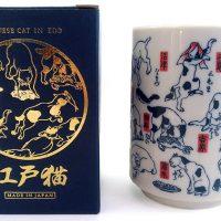 歌川国芳の猫の浮世絵がカワイイ湯のみに大変身!